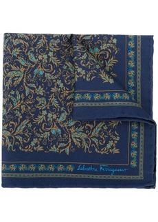 Ferragamo floral print pocket square
