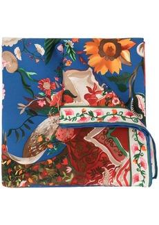 Ferragamo floral printed silk scarf