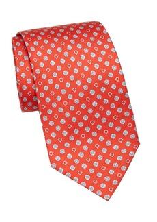 Ferragamo Flower & Gancini Silk Tie