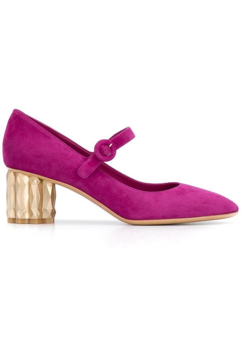 Ferragamo Flower heel Mary Janes
