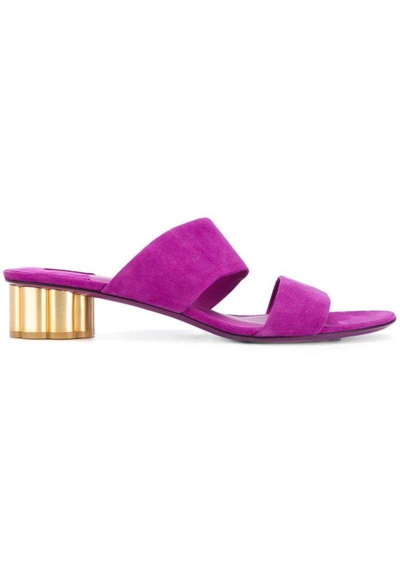 Ferragamo flower heel sandals
