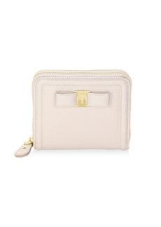 Ferragamo French Leather Zip-Around Wallet