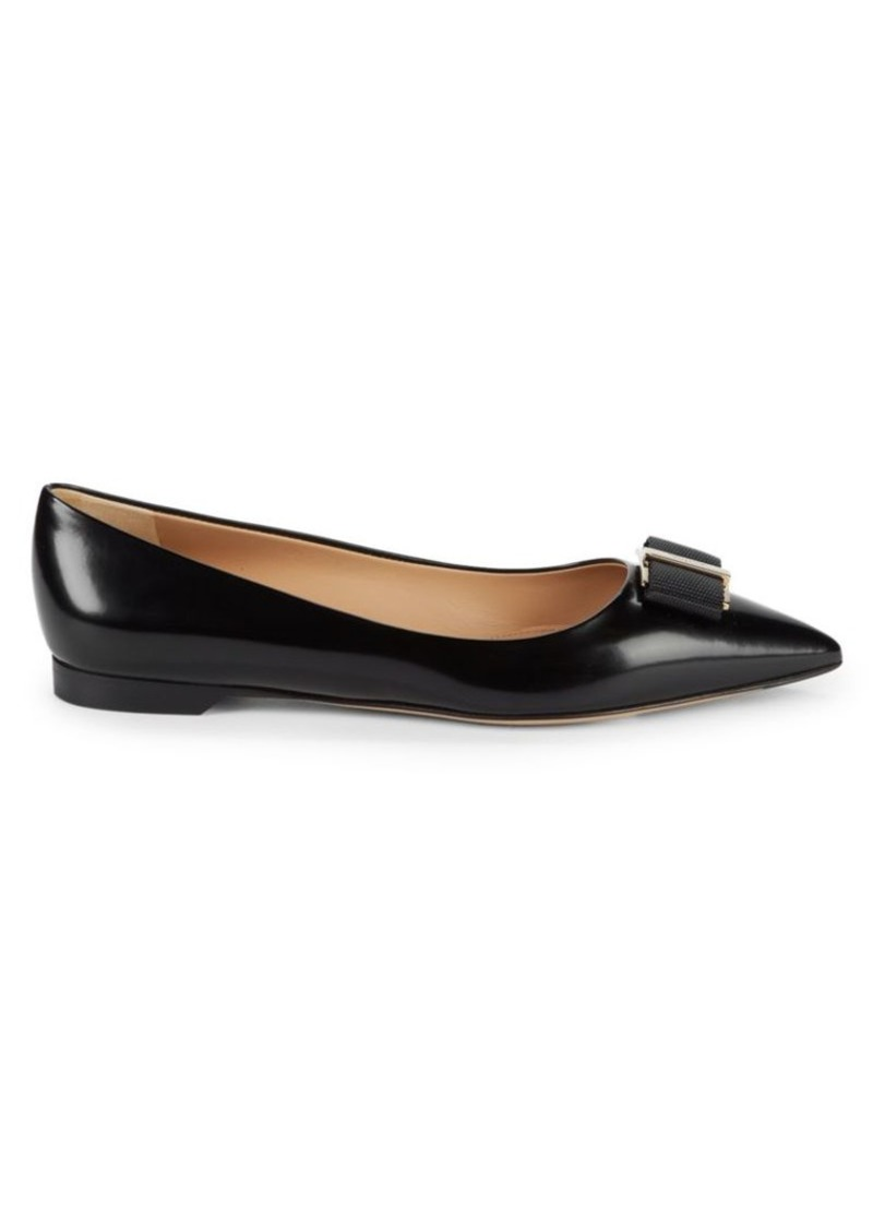Ferragamo Friuli Leather Flats