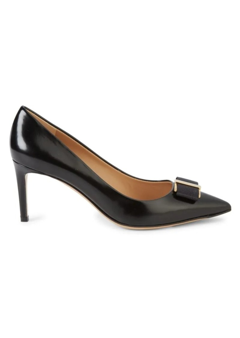 Ferragamo Friuli Leather Pumps