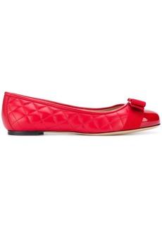 Ferragamo front bow ballerina shoes