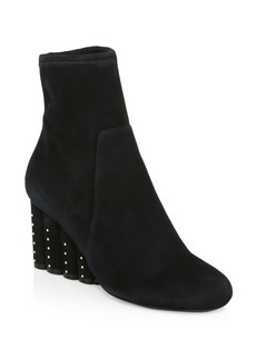 Ferragamo Gallio Suede Wedge Ankle Boots