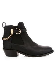 Ferragamo Ardisievit Chain Leather Chelsea Boots