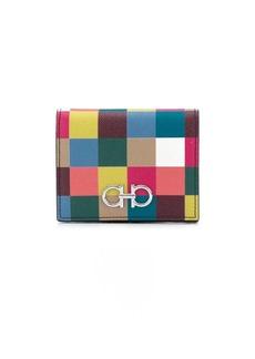Ferragamo Gancini checked compact wallet