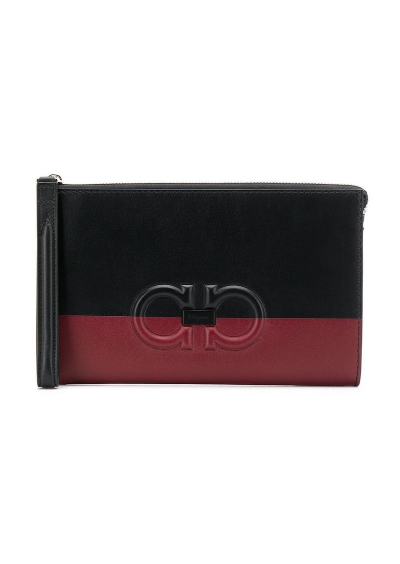 Ferragamo Gancini clutch bag