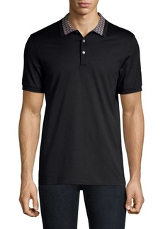 Ferragamo Gancini Collar Cotton Polo