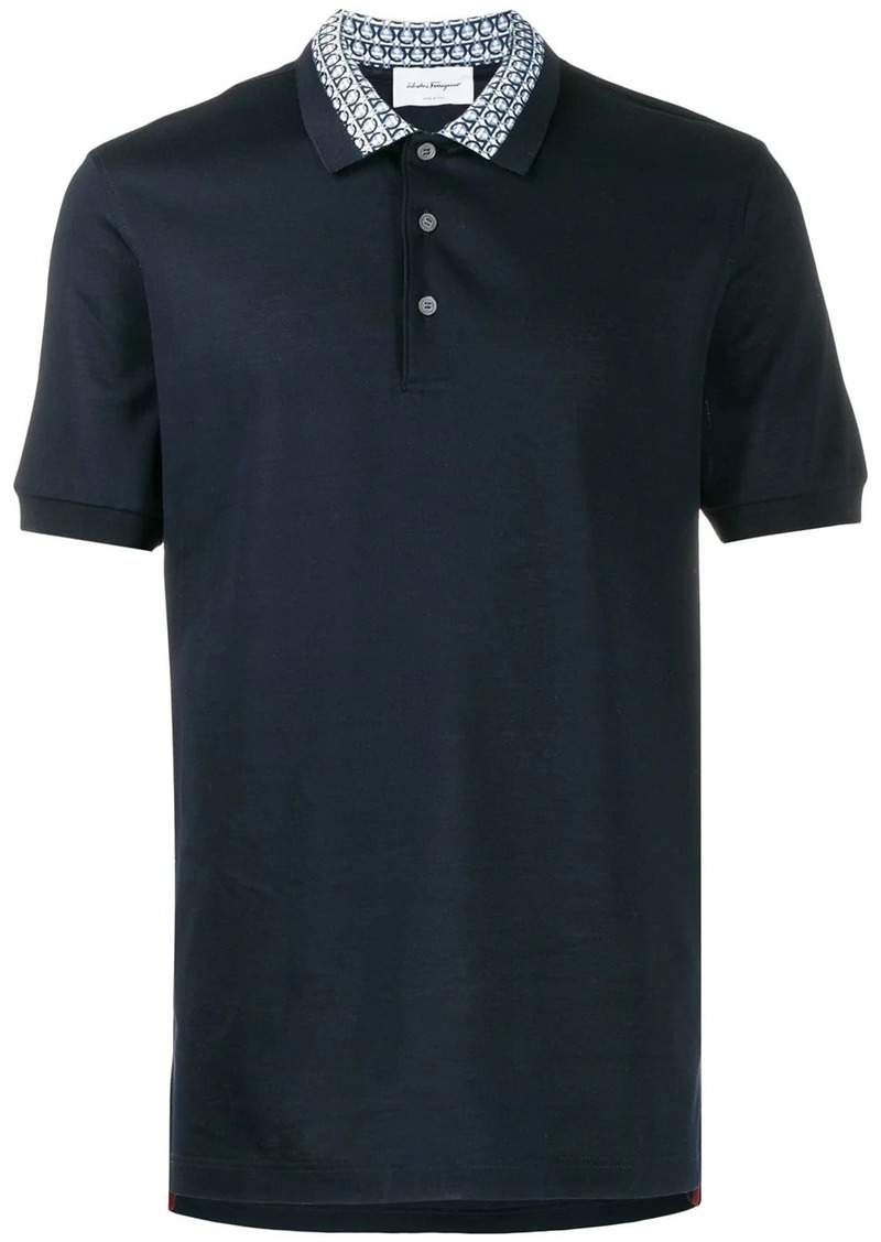 Ferragamo Gancini collar polo shirt