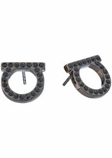 Ferragamo Gancini Crystal Stud Earrings