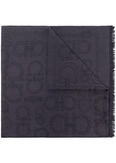 Ferragamo Gancini frayed-edge scarf