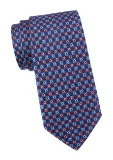 Ferragamo Gancini Grid Silk Jacquard Tie