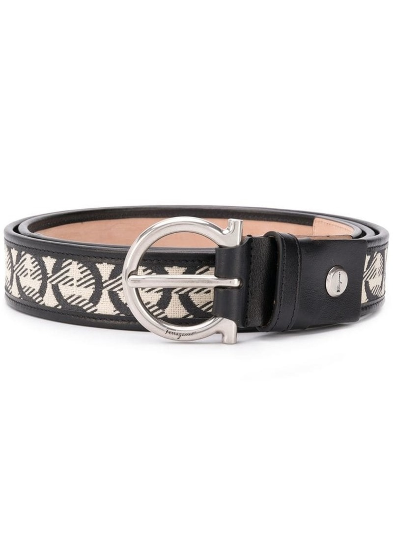 Ferragamo Gancini jacquard belt