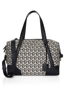 Ferragamo Gancini Jacquard Canvas Travel Bag