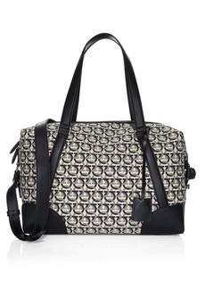 Ferragamo Gancini Jacquard Canvas Travel Bag
