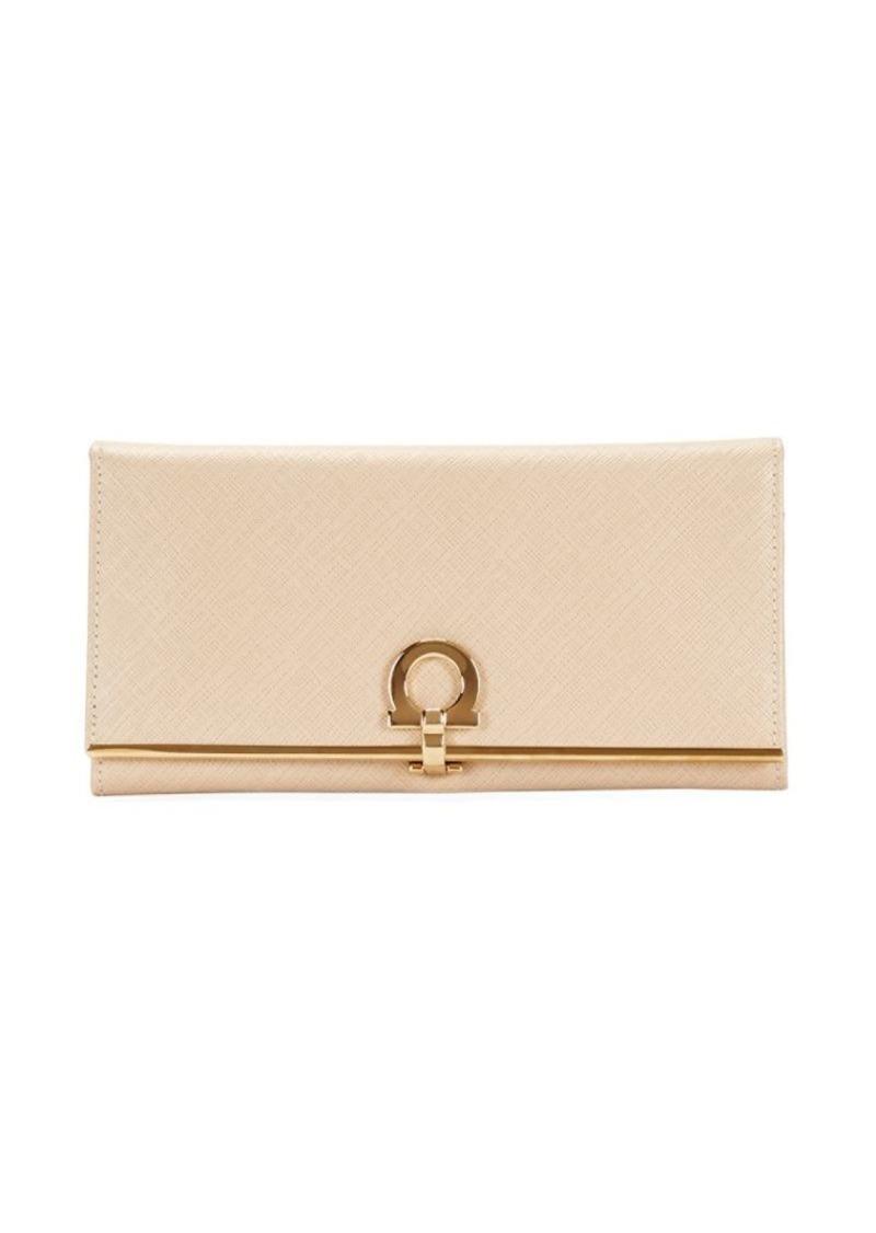 Ferragamo Gancini Leather Continental Wallet