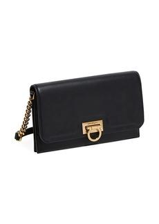 Ferragamo Gancini Leather Wallet-On-Chain