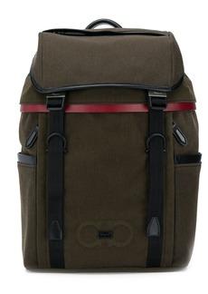 Ferragamo Gancini logo backpack