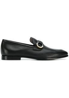 Ferragamo Gancini logo loafers