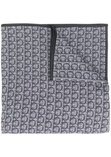 Ferragamo Gancini logo patterned shawl