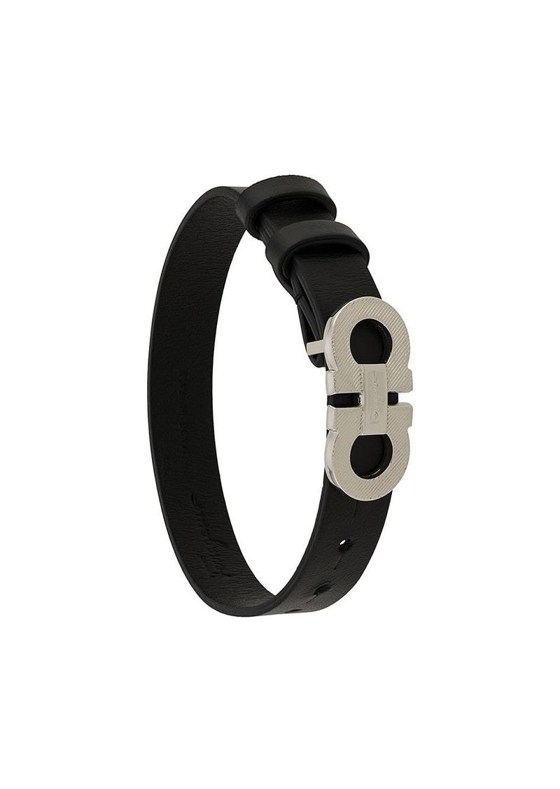 Ferragamo Gancini logo plaque bracelet