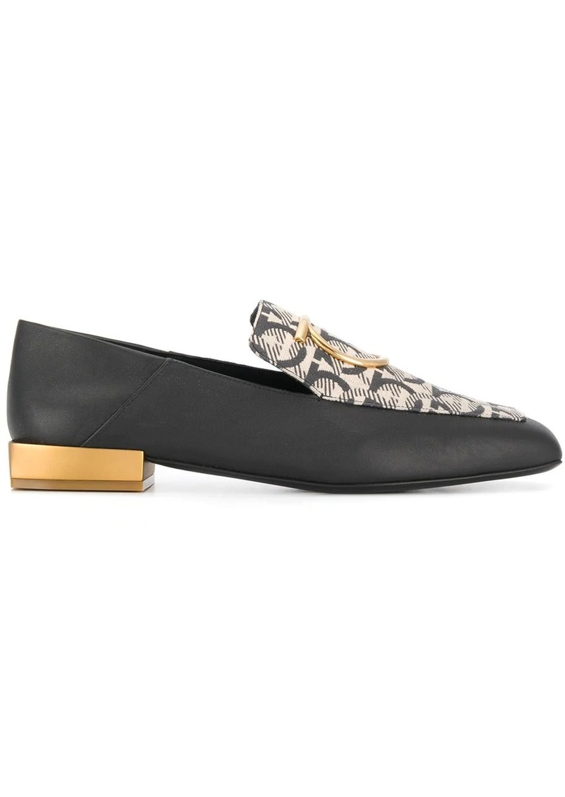 Ferragamo Gancini mirrored-heel loafers