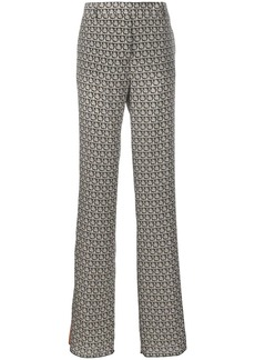 Ferragamo Gancini monogram straight trousers