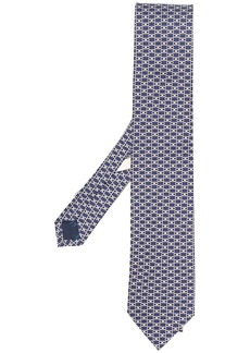 Ferragamo Gancini motif pointed tie