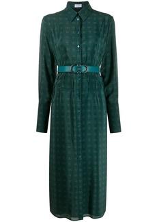 Ferragamo Gancini motif shirt dress