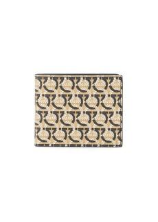 Ferragamo Gancini pattern bi-fold wallet