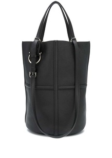 Ferragamo Gancini plaque tote bag
