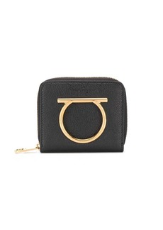 Ferragamo Gancini plaque zip-around purse