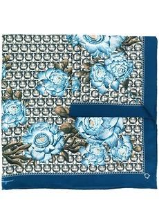 Ferragamo Gancini print silk scarf