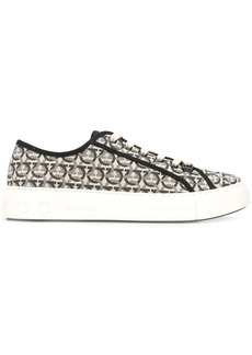 Ferragamo Gancini print sneakers