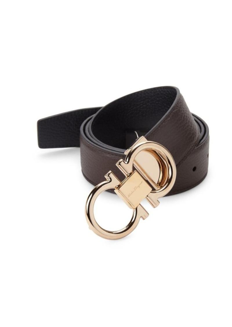 Ferragamo Gancini Reversible Leather Belt