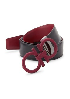 Ferragamo Gancini Reversible Leather Belt