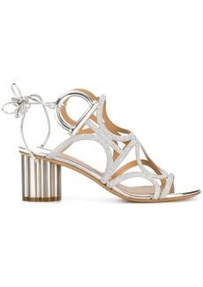Ferragamo flower heel Gancini sandals