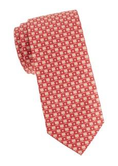 Ferragamo Gancini Screen Saver Silk Tie