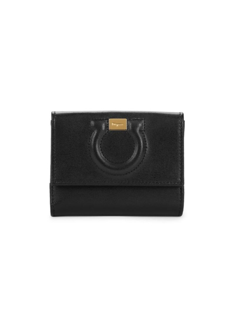 Ferragamo Gancini Short Flap Leather Wallet