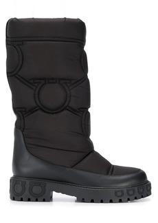 Ferragamo Gancini sole padded boots