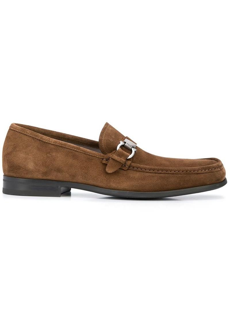 Ferragamo Gancini suede effect loafers