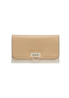 Ferragamo Gancini Tri-Color Leather Wallet-On-Chain