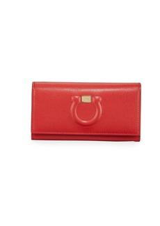 Ferragamo Gancio City Wallet On Chain  Red