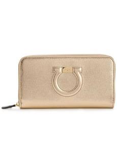 Ferragamo Gancio City zip around wallet