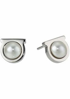 Ferragamo Gancio Pearl Stud Earrings