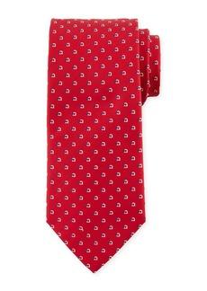 Ferragamo Gancio-Print Silk Tie