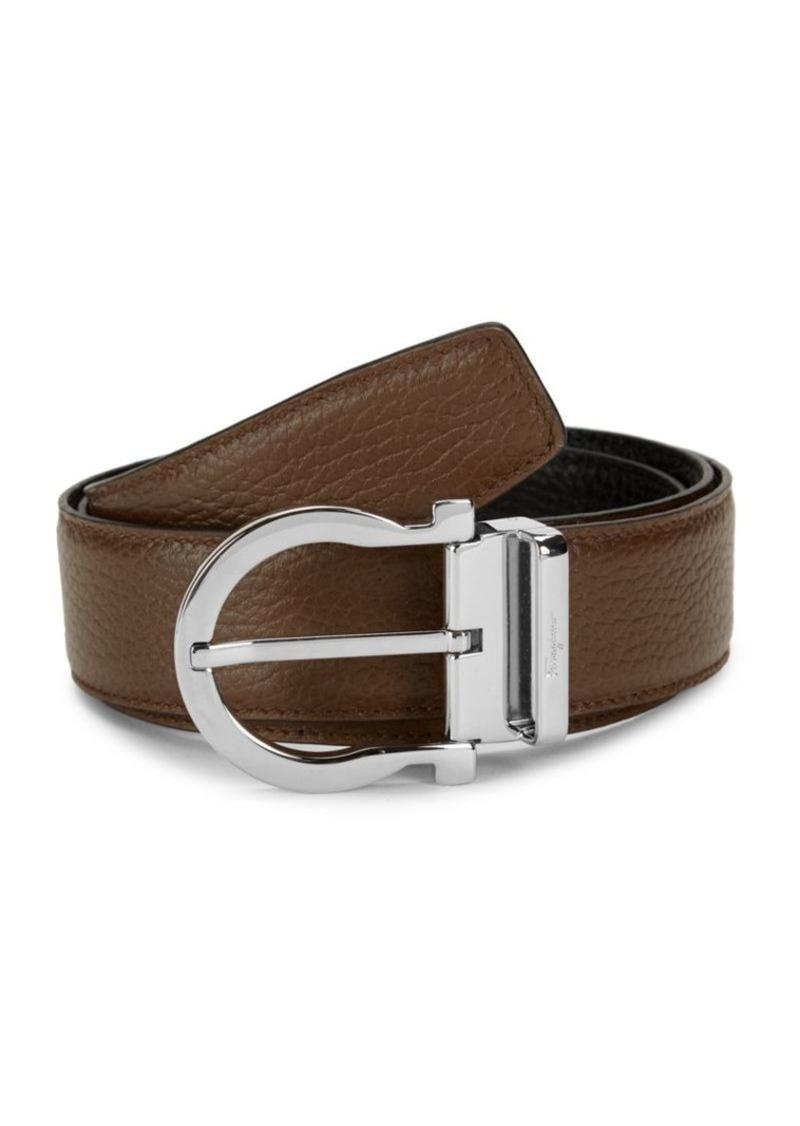 Ferragamo Gancio Reversible Leather Belt