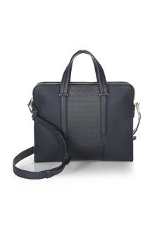Ferragamo Gancio Textured Leather Briefcase